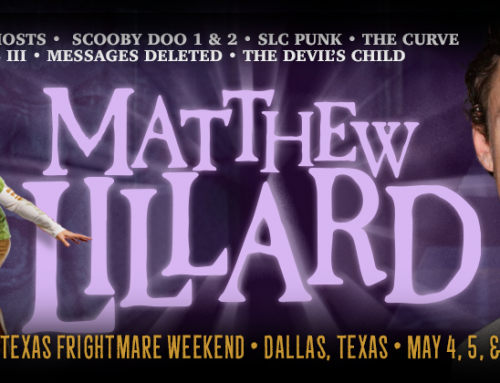 Happy Halloween – Matthew Lillard Returns to Texas Frightmare Weekend 2018!